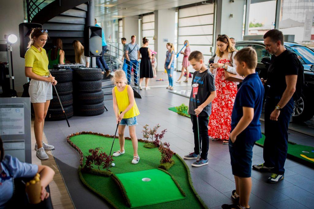 юные гольфисты